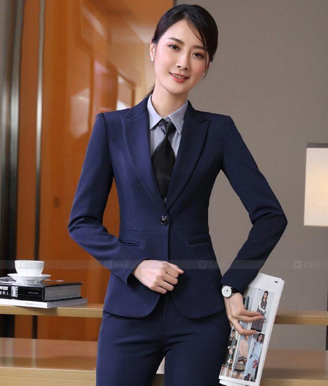Ao Vest Dong Phuc Cong So GLU 532 áo sơ mi nữ đồng phục công sở