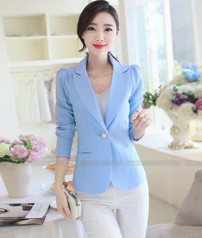 Ao Vest Dong Phuc Cong So GLU 534 áo sơ mi nữ đồng phục công sở