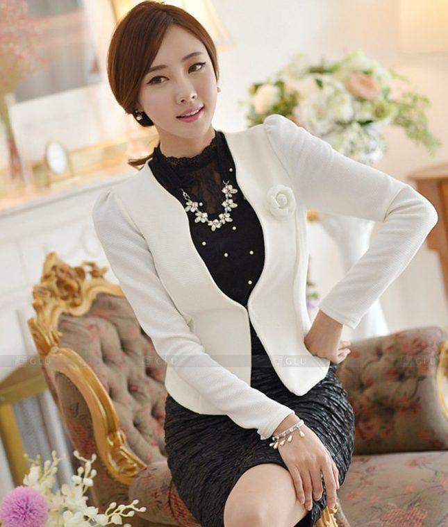 Ao Vest Dong Phuc Cong So GLU 535 áo sơ mi nữ đồng phục công sở