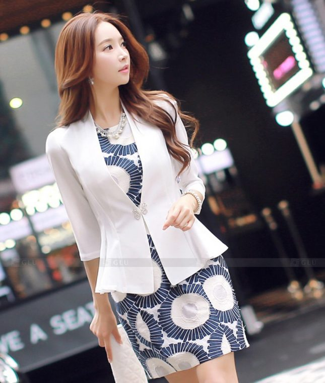 Ao Vest Dong Phuc Cong So GLU 536 áo sơ mi nữ đồng phục công sở