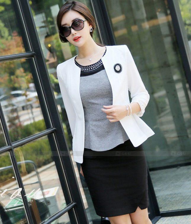 Ao Vest Dong Phuc Cong So GLU 537 áo sơ mi nữ đồng phục công sở