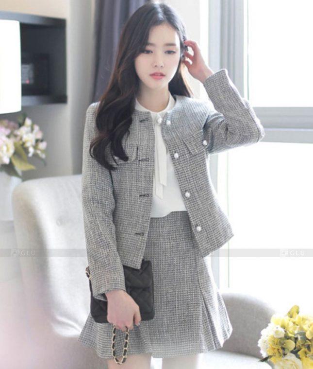 Ao Vest Dong Phuc Cong So GLU 543 áo sơ mi nữ đồng phục công sở