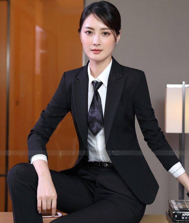 Ao Vest Dong Phuc Cong So GLU 545 áo sơ mi nữ đồng phục công sở