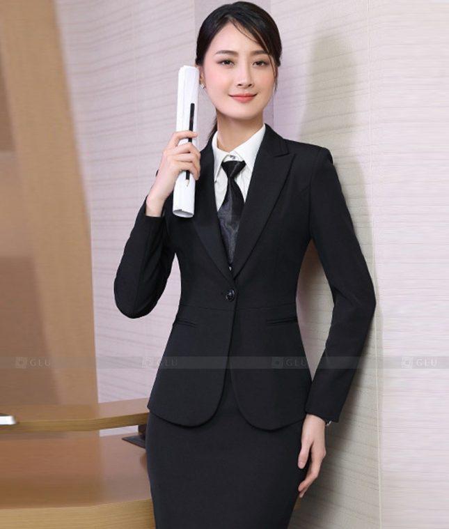 Ao Vest Dong Phuc Cong So GLU 547 áo sơ mi nữ đồng phục công sở
