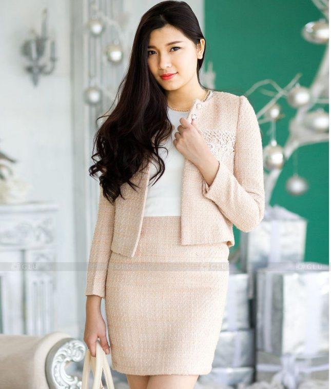 Ao Vest Dong Phuc Cong So GLU 548 áo sơ mi nữ đồng phục công sở