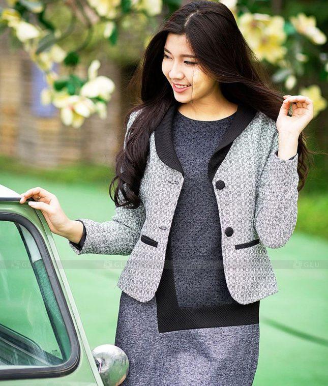 Ao Vest Dong Phuc Cong So GLU 549 áo sơ mi nữ đồng phục công sở
