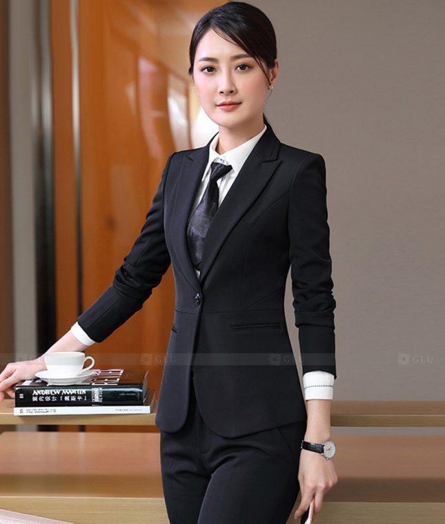 Ao Vest Dong Phuc Cong So GLU 550 áo sơ mi nữ đồng phục công sở