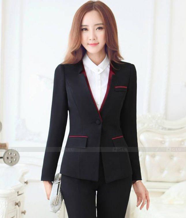 Ao Vest Dong Phuc Cong So GLU 551 áo sơ mi nữ đồng phục công sở