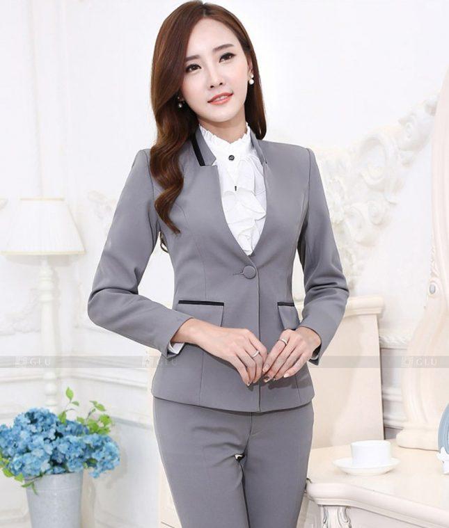 Ao Vest Dong Phuc Cong So GLU 552 áo sơ mi nữ đồng phục công sở
