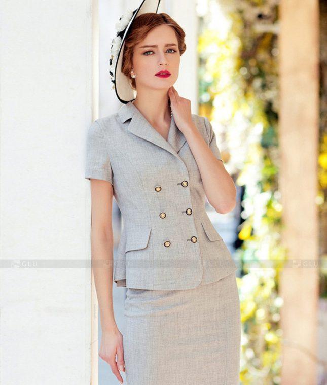 Ao Vest Dong Phuc Cong So GLU 557 áo sơ mi nữ đồng phục công sở