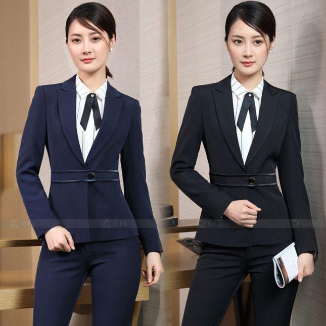 Ao Vest Dong Phuc Cong So GLU 565 áo sơ mi nữ đồng phục công sở