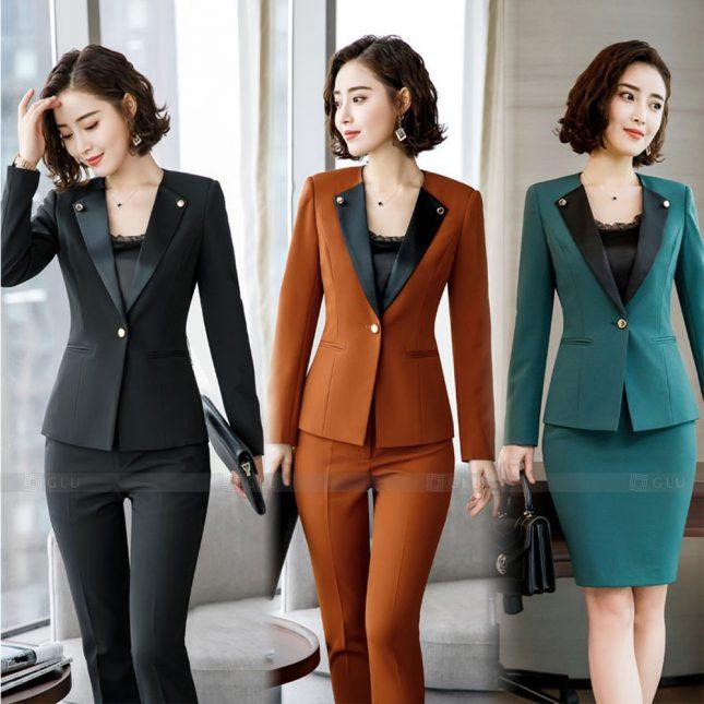 Ao Vest Dong Phuc Cong So GLU 571 áo sơ mi nữ đồng phục công sở