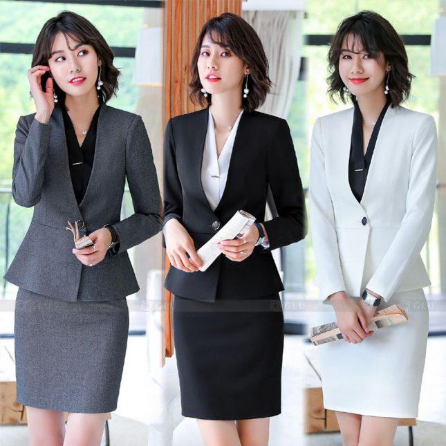 Ao Vest Dong Phuc Cong So GLU 572 áo sơ mi nữ đồng phục công sở