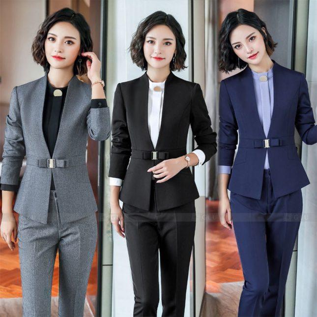 Ao Vest Dong Phuc Cong So GLU 573 áo sơ mi nữ đồng phục công sở