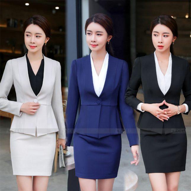 Ao Vest Dong Phuc Cong So GLU 574 áo sơ mi nữ đồng phục công sở