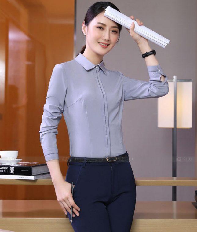 Dong Phuc Cong So Nu GS567 áo sơ mi nữ đồng phục công sở