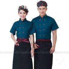 Dong Phuc Dau Bep DBA283 may đồng phục bếp