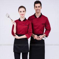 Dong Phuc Dau Bep DBA301 may đồng phục bếp
