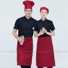 Dong Phuc Dau Bep DBA323 may đồng phục bếp