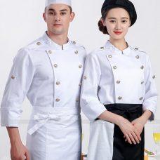 Dong Phuc Dau Bep DBA327 may đồng phục bếp