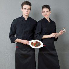 Dong Phuc Dau Bep DBA333 may đồng phục bếp