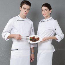 Dong Phuc Dau Bep DBA336 may đồng phục bếp