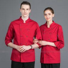 Dong Phuc Dau Bep DBA338 may đồng phục bếp