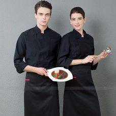Dong Phuc Dau Bep DBA348 may đồng phục bếp