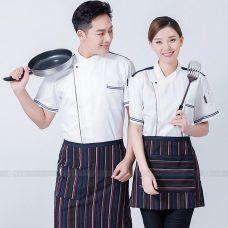 Dong Phuc Dau Bep DBA358 may đồng phục bếp