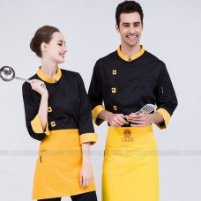 Dong Phuc Dau Bep DBA367 may đồng phục bếp