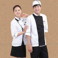 Dong Phuc Dau Bep DBA398 may đồng phục bếp