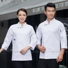 Dong Phuc Dau Bep DBA404 may đồng phục bếp