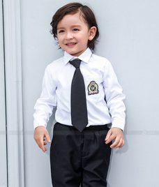 GLU Dong Phuc Mam Non MN102 áo sơ mi đồng phục