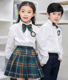GLU Dong Phuc Mam Non MN103 áo sơ mi đồng phục