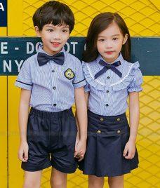 GLU Dong Phuc Mam Non MN104 áo sơ mi đồng phục