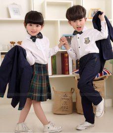 GLU Dong Phuc Mam Non MN105 2 áo sơ mi đồng phục