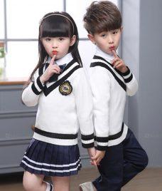 GLU Dong Phuc Mam Non MN108 áo sơ mi đồng phục