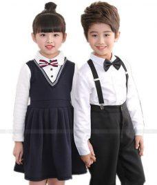 GLU Dong Phuc Mam Non MN112 áo sơ mi đồng phục