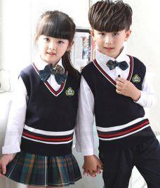 GLU Dong Phuc Mam Non MN113 áo sơ mi đồng phục