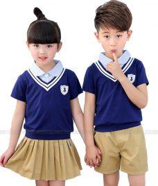 GLU Dong Phuc Mam Non MN114 áo sơ mi đồng phục