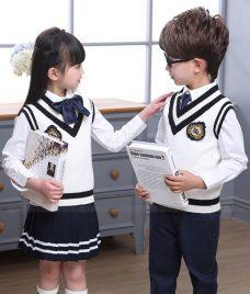 GLU Dong Phuc Mam Non MN118 áo sơ mi đồng phục