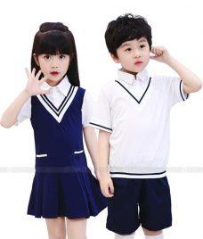 GLU Dong Phuc Mam Non MN119 áo sơ mi đồng phục