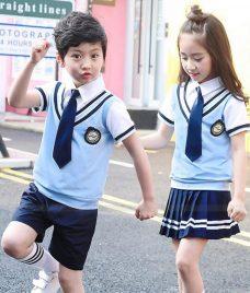GLU Dong Phuc Mam Non MN120 áo sơ mi đồng phục