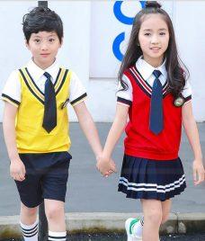 GLU Dong Phuc Mam Non MN121 áo sơ mi đồng phục