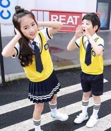 GLU Dong Phuc Mam Non MN122 áo sơ mi đồng phục