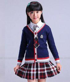 GLU Dong Phuc Mam Non MN124 áo sơ mi đồng phục
