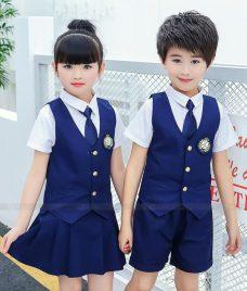 GLU Dong Phuc Mam Non MN128 may áo sơ mi