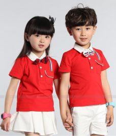 GLU Dong Phuc Mam Non MN42 áo thun đồng phục