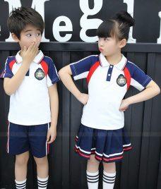 GLU Dong Phuc Mam Non MN45 áo thun đồng phục