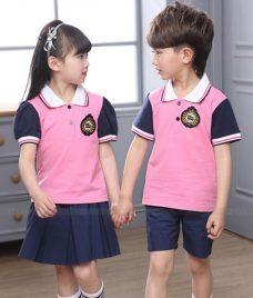 GLU Dong Phuc Mam Non MN48 áo thun đồng phục